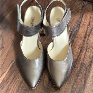 Paul Green metallic leather  sandal size 7.5